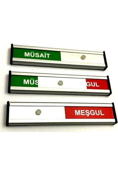 Se-Dizayn Müsait-Meşgul Tabelası Kapı Isimliği Yönlendirme Levhası Sürgülü
