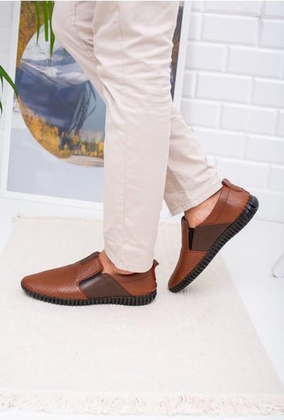 Gimer Avm Ortapedik Pedli Lastikli Deri Ayakkabı