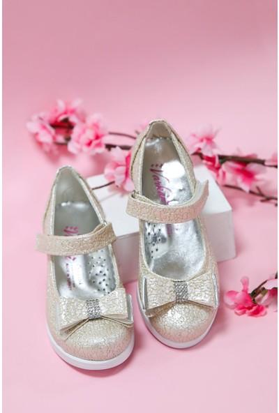 Gimer Avm Topuklu Altın Çatlak Kız Çocuk Ayakkabı