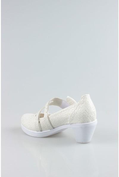 Gimer Avm Topuklu Sedef Çatlak Kız Çocuk Ayakkabı