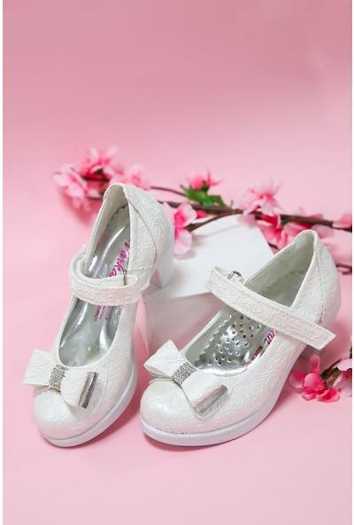 Gimer Avm Topuklu Sedef Sarmaşık Kız Çocuk Ayakkabı