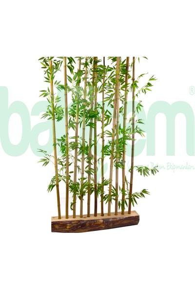Bahçem Yapay Yapraklı Dekoratif Bambu Çubuğu 150 cm 5 Adet