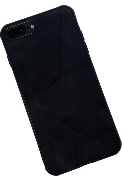 Gaga Apple iPhone 7 Plus 8 Plus Deri Görünümlü Silikon Arka Kapak
