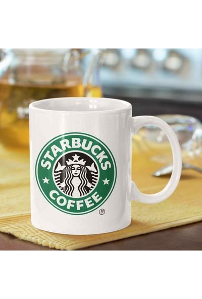 CADDE216 | Starbucks Coffee | Baskılı Porselen Kupa Bardak | Trend Hediyelik