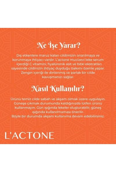 L'actone C Vitamin Serumu 30 ml + Sinada Home Cilt Temizleme Fırçası