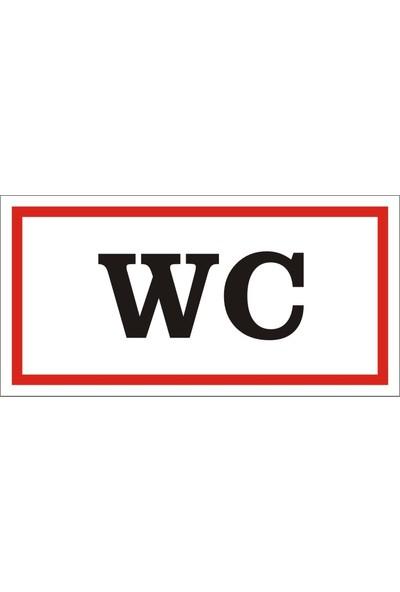 İzmir Serigrafi Wc Sticker Uyarı Levhası 17 x 35 cm