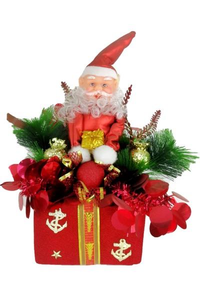 Genç Dijital Baskı Noel Baba Figürlü Yılbaşı Dekorasyon Süsü