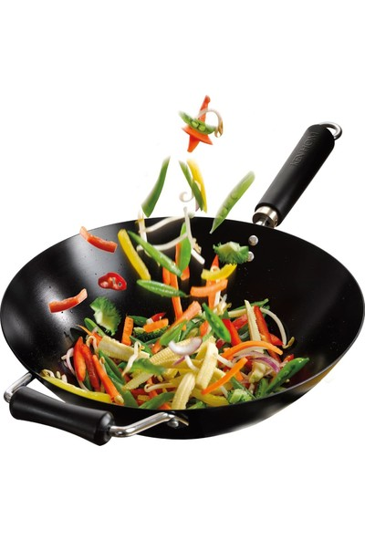 Ken Hom KH435001 Karbon Çelik 35CM Yapışmaz Wok Tava