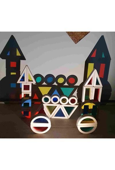 Kırtkırt Ahşap Ahşap Renkli Bloklar Waldorf