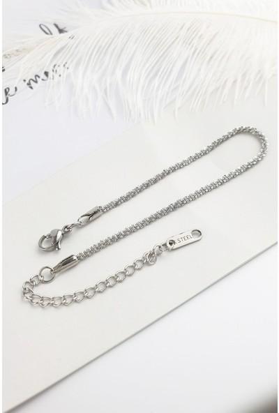 ÇLK Accessories Çelik Ince Sarmal Bileklik B300