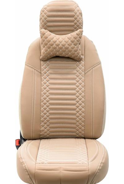 Stiloto Araç Koltuk Kılıfı Lux Deri Exclusive Bej Beyaz