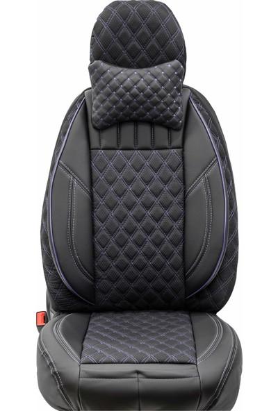 Stiloto Lux Araç Koltuk Kılıfı Siyah Mavi