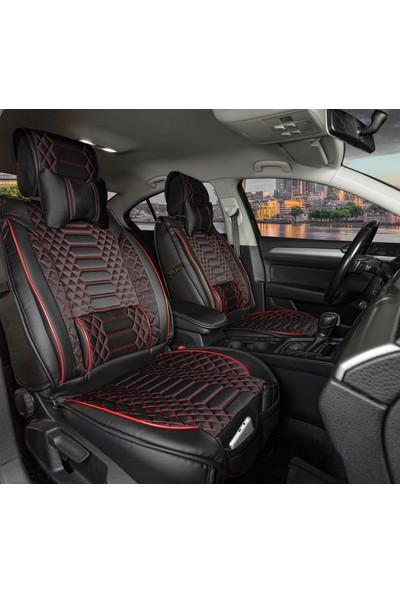 Stiloto Araç Koltuk Kılıfı Lux Royal Minder Siyah Kırmızı