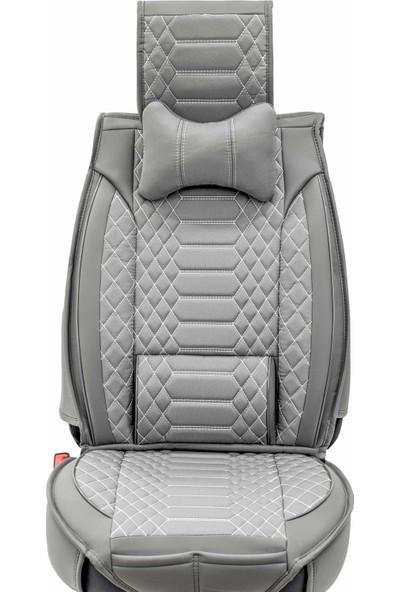 Stiloto Araç Koltuk Kılıfı Lux Royal Minder Füme Beyaz
