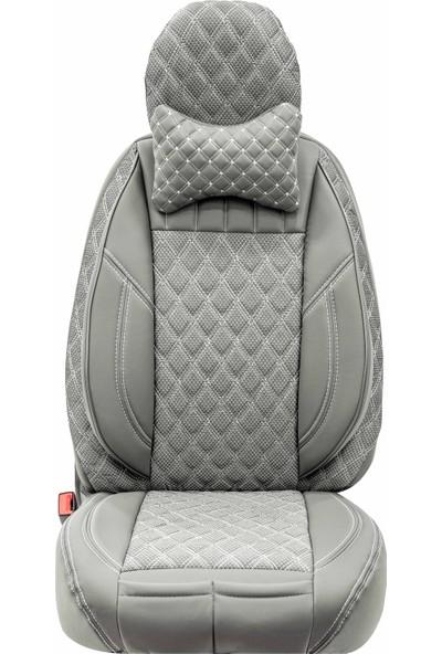 Stiloto Lux Araç Koltuk Kılıfı Gri Beyaz