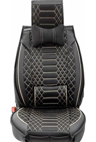Stiloto Araç Koltuk Kılıfı Lux Royal Minder Siyah Bej
