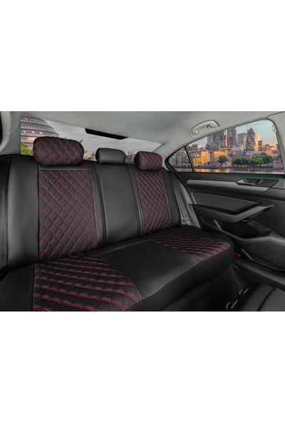 Stiloto Lux Araç Koltuk Kılıfı Siyah Kırmızı