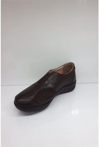 Forex 304 Bayan Deri Günlük Comfort Ayakkabı