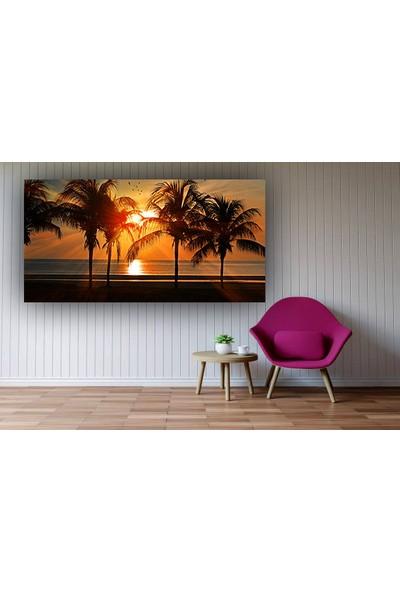 Syronix Gün Batımı Palmiye Ağaç Kanvas Tablo
