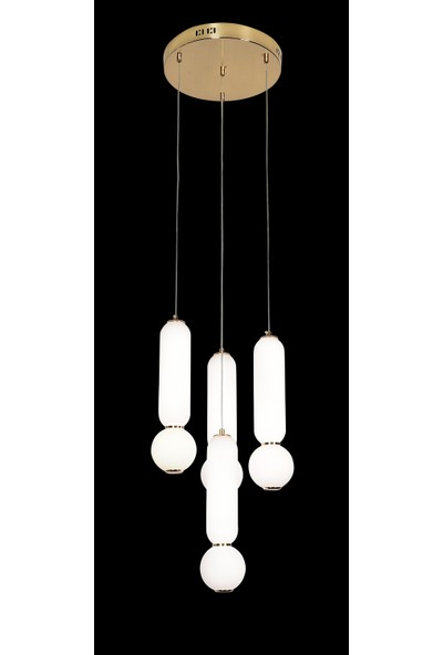 Luna Lighting Modern Luxury Sarkıt 3+1 LED Avize