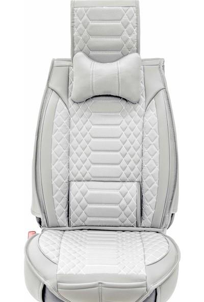 Stiloto Araç Koltuk Kılıfı Lux Royal Minder Gri Beyaz