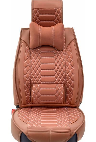 Stiloto Araç Koltuk Kılıfı Lux Royal Minder Tarçın Beyaz