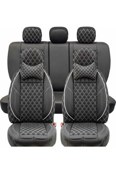 Stiloto Lux Araç Koltuk Kılıfı Siyah Beyaz