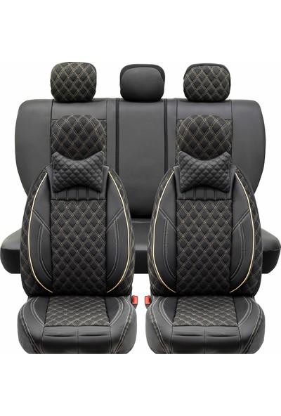 Stiloto Lux Araç Koltuk Kılıfı Siyah Bej