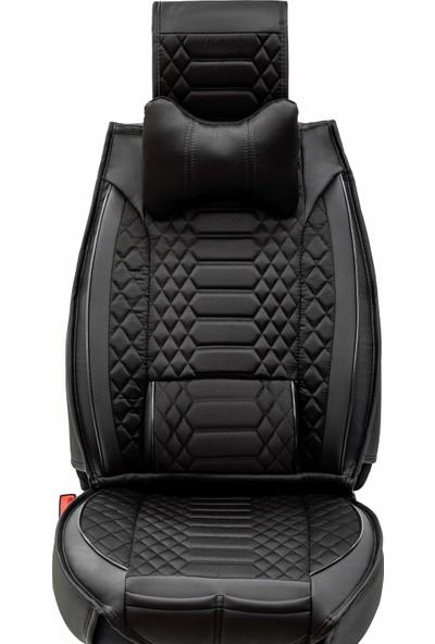Stiloto Araç Koltuk Kılıfı Lux Royal Minder Siyah Siyah