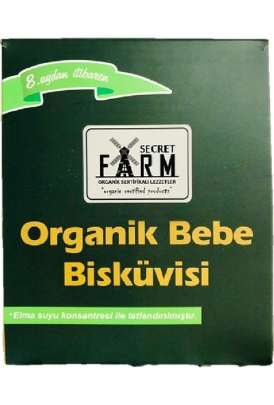 Secret Farm Organik Bebe Bisküvisi
