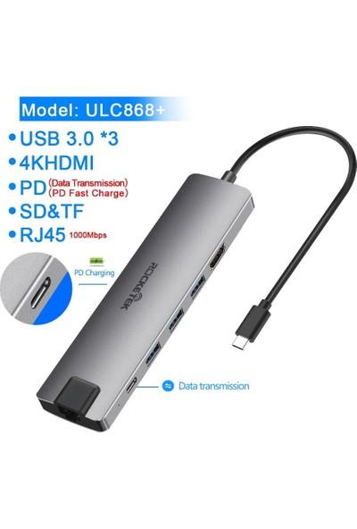 Rocketek USB 3.0 Hub 4K HDMI MacBook Pro 9-In-1 Port ULC868