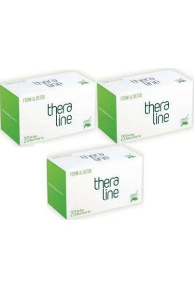 Theraline Form & Detox Bitkisel Çay 3'lü