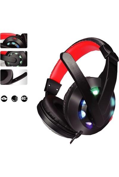 Concord Mikrofonlu Işıklı Stereo Oyuncu Gaming Kulaklık C-944