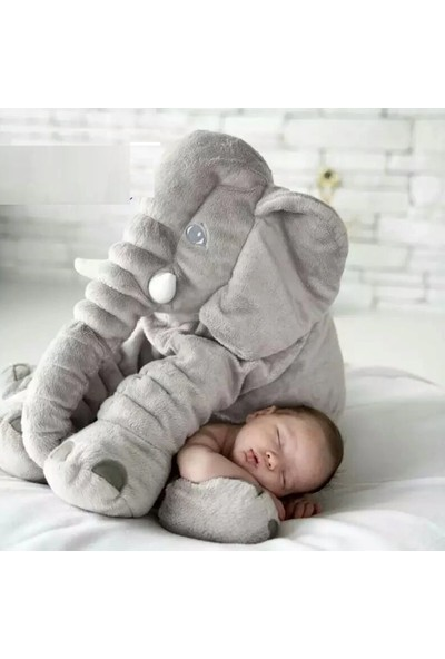 Sole Uyku Arkadaşım Jumbo Fil - Büyük Yumuşacık Peluş Fil - 85 cm