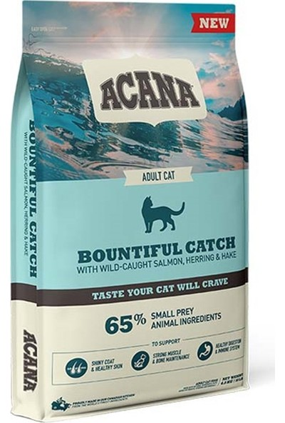 Acana Bountiful Catch Somonlu ve Ringa Balıklı Yetişkin Kedi Maması 1,8 kg