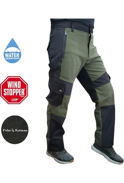 PNT-611 Softshell Pantolon Siyah-Yeşil 52