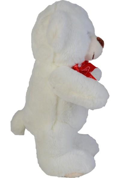 B-Plush Peluş Türkçe Sesli Ayakta Ayı Beyaz 28 cm