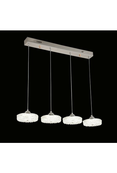 Luna Lighting Modern Luxury Sarkıt Sıralı 4'lü LED Avize