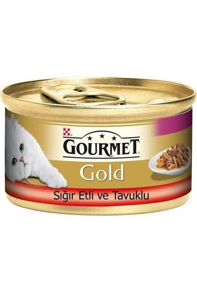 Gourmet Gold Sığır Etli ve Tavuklu Yetişkin Kedi Konservesi 85 gr x 24 Adet