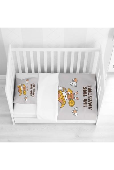 Osso Sarı Gri Turuncu Viking Çoçuk Desenli Bebek Nevresim Takımı