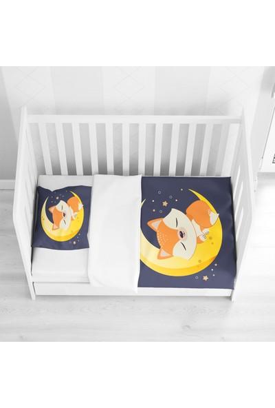 Osso Gece Ay Yıldız Uykucu Tilki 3D Desenli Bebek Nevresim Takımı