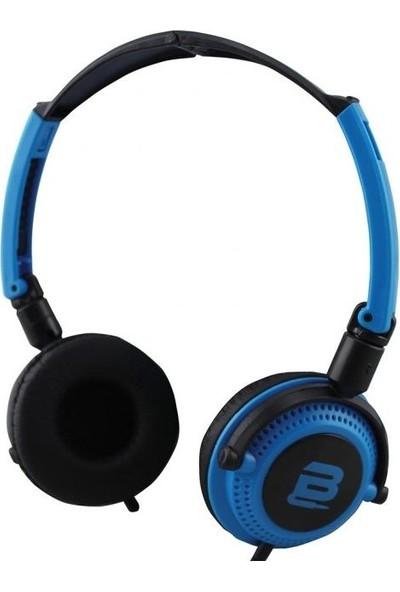 Bounce Swing Series Kablolu Mikrofonlu Katlanabilir Kulaklık BO-2001-BLBK