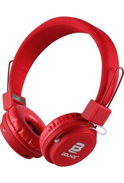 Bounce Ball Series Kablolu Mikrofonlu Katlanabilir Kulaklık Kırmızı BO-2003-RD