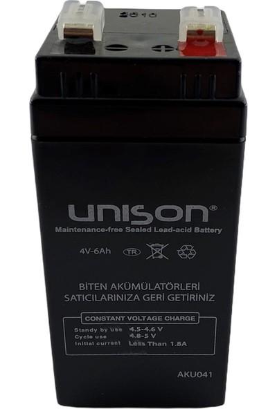 Unison Micron 4V 6 Amper Kare Kuru Bakımsız Akü