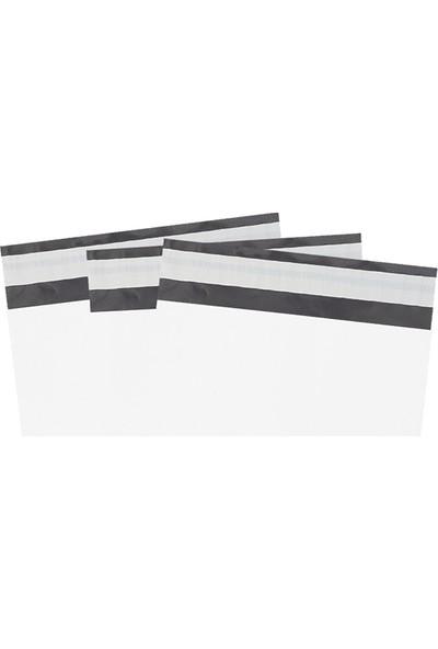 Morpack Beyaz Renkli Kargo Poşeti 100'lü 24 x 30 + 5 cm