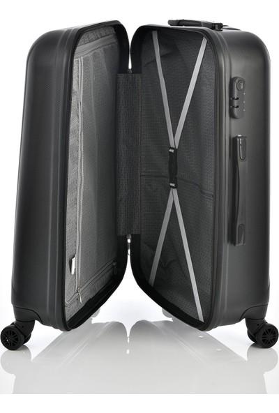 Ehs 1EH10507 Unisex 4 Tekerlekli Büyük Boy Valiz Siyah