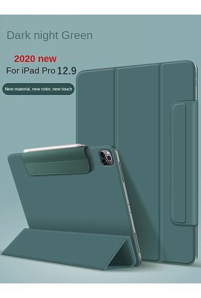 Aksesuarkolic Apple iPad Pro 10.2 Kılıf Cover Standlı Mıknatıslı Bluetooth Klavyeli Kılıf Lacivert