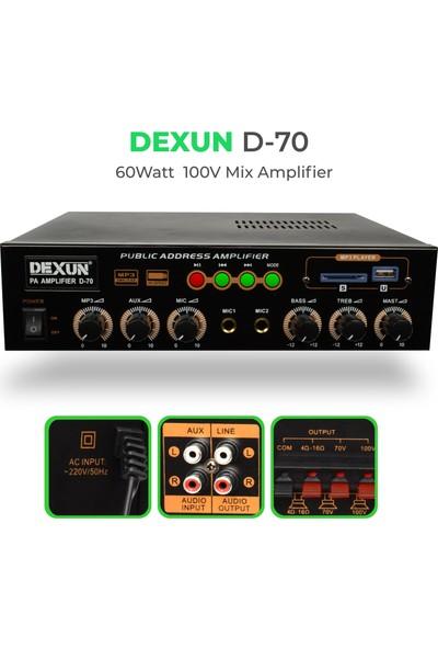Dexun D-70 60 Watt 100 Volt Hat Trafolu Mikser Amfi D-70