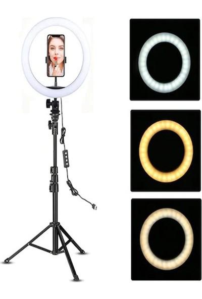 Soligor 14 Inc Soligor Ring Light LED Işık ,makyaj,kuaför Make Up Tripod