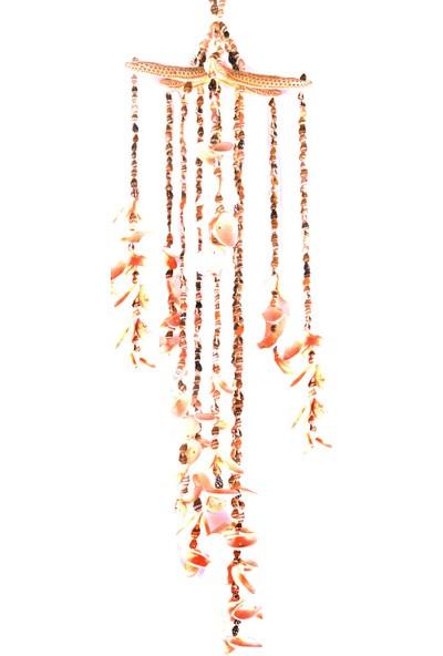 Turkuaz Hediyelik Beyaz Yıldızlı Nassa/arca Sarkaç